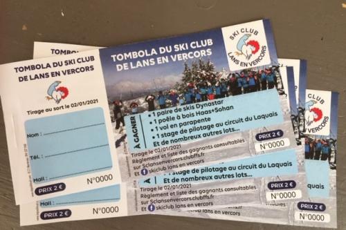 TOMBOLA DU SKI CLUB 2020 2021 ACHETEZ VOS TICKETS A LA BULLE